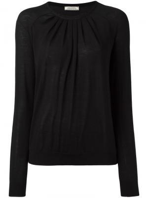 Пуловер со складками Nina Ricci. Цвет: чёрный