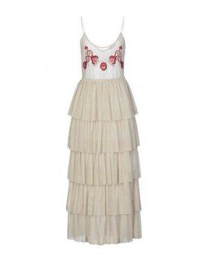 Длинное платье SOALLURE. Цвет: слоновая кость