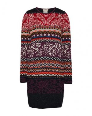 Короткое платье FUZZI. Цвет: баклажанный