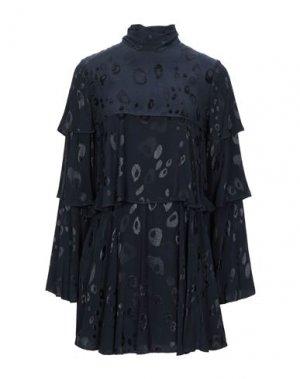 Короткое платье ALEXIS. Цвет: темно-синий
