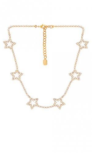 Ожерелье со звездой lively Elizabeth Cole. Цвет: металлический золотой