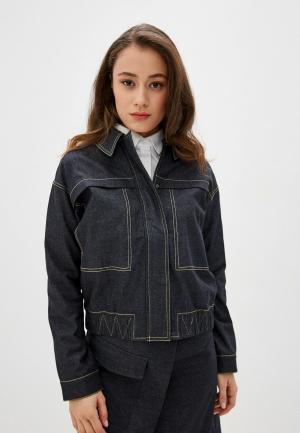 Куртка джинсовая UNQ. Цвет: синий