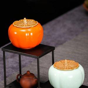 Фарфоровый чайник в форме тыквы 1шт SHEIN. Цвет: многоцветный