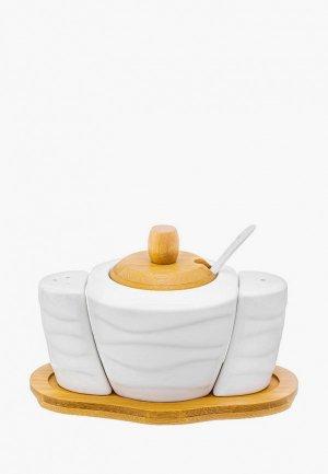 Набор для сервировки специй Elan Gallery. Цвет: разноцветный