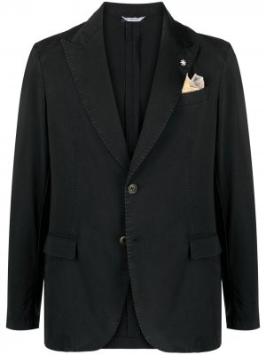 Однобортный пиджак Manuel Ritz. Цвет: черный