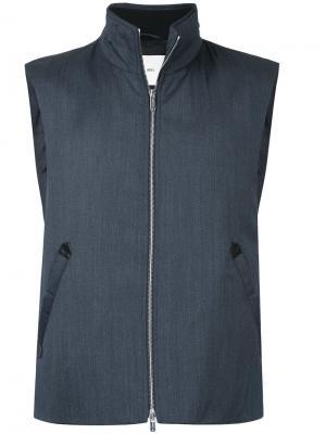 Куртка без рукавов на молнии Cerruti 1881. Цвет: синий