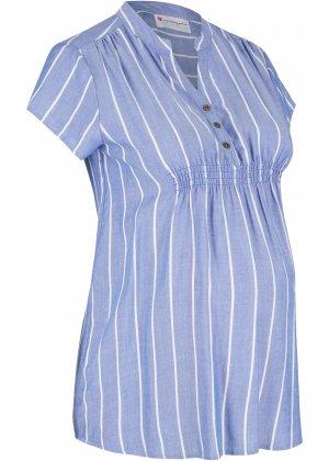 Блузка для беременных bonprix. Цвет: синий