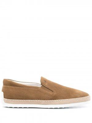 Tods slip-on sneakers Tod's. Цвет: коричневый