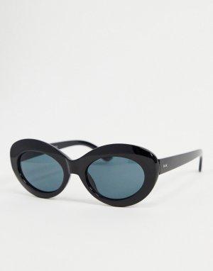 Черные овальные солнцезащитные очки -Черный цвет AJ Morgan