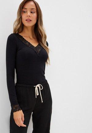 Пуловер домашний Tezenis. Цвет: черный