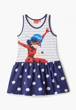 Платье Disney. Цвет: синий