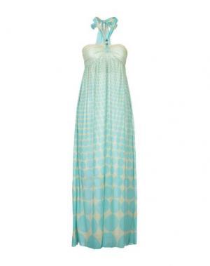 Длинное платье AGOGOA. Цвет: светло-зеленый