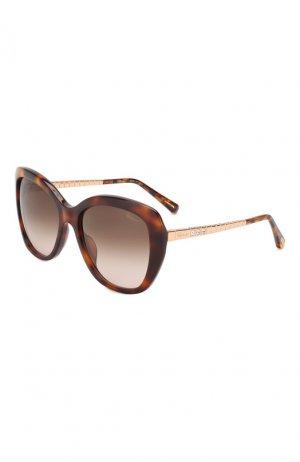 Солнцезащитные очки Chopard. Цвет: коричневый