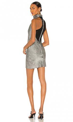 Мини платье abella RtA. Цвет: серый