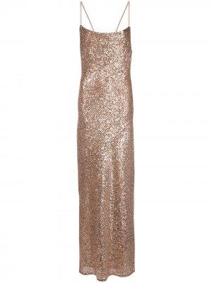 Платье макси Soiree Shona Joy. Цвет: розовый