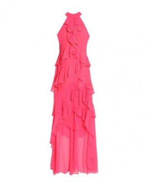 Длинное платье BADGLEY MISCHKA. Цвет: фуксия