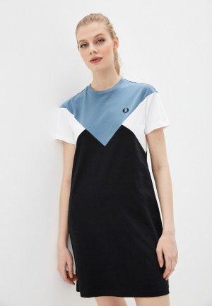 Платье Fred Perry. Цвет: разноцветный