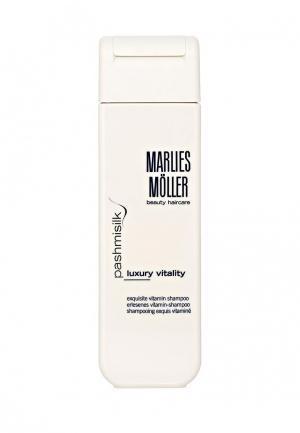 Шампунь Marlies Moller Pashmisilk Витаминный 200 мл.. Цвет: белый