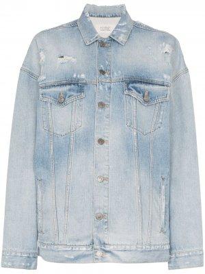 Джинсовая куртка с эффектом потертости Givenchy. Цвет: синий