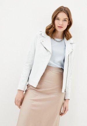 Куртка кожаная Ne.Ra Collezioni. Цвет: белый