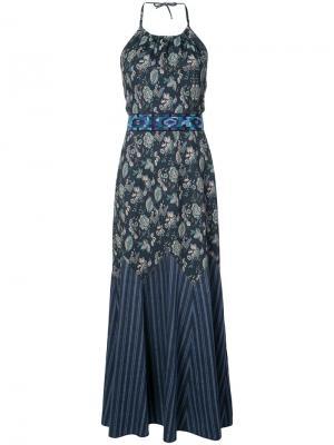 Платье с узорами Wanderlust Anna Sui. Цвет: синий