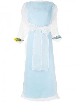 Полупрозрачное платье-кейп Pose Arazzi