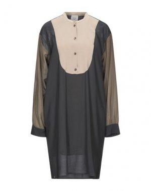 Платье до колена ALYSI. Цвет: свинцово-серый