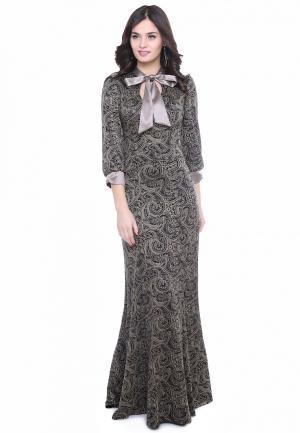 Платье Olivegrey MALFOYA. Цвет: бежевый