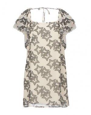 Короткое платье DENNY ROSE. Цвет: бежевый