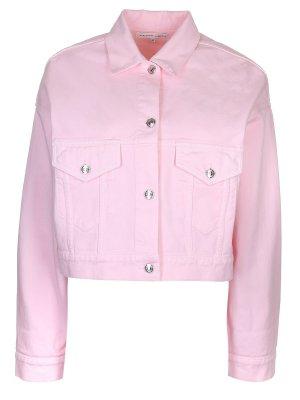 Укороченная джинсовая куртка Alexander Terekhov. Цвет: розовый