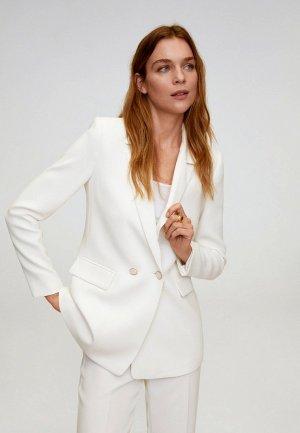 Пиджак Mango - PALACHIN. Цвет: белый