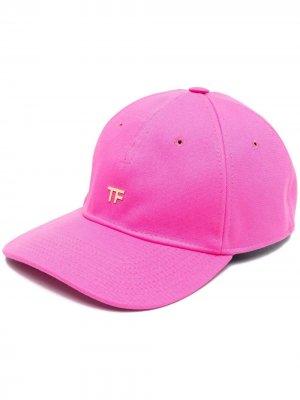 Бейсболка с логотипом TOM FORD. Цвет: розовый