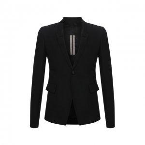 Пиджак Rick Owens. Цвет: чёрный