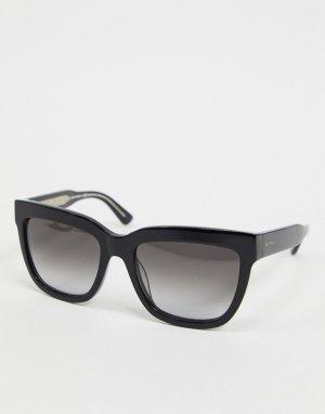 Солнцезащитные очки в квадратной черной оправе Etro-Черный ETRO