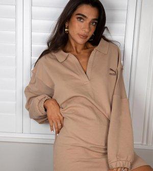 Светло-коричневое платье-поло с сетчатыми вставками x Stef Fit эксклюзивно для ASOS-Светло-коричневый Puma