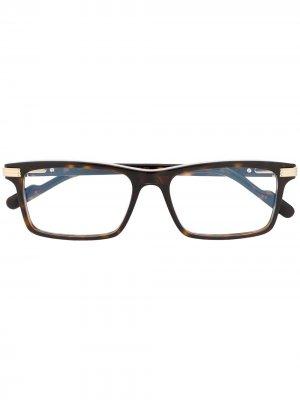 Очки в прямоугольной оправе Cartier Eyewear. Цвет: коричневый