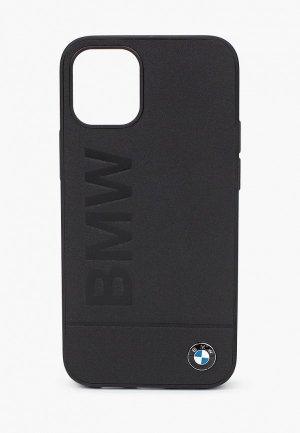 Чехол для iPhone BMW 12 mini (5.4), Signature Genuine leather Logo imprint Black. Цвет: черный