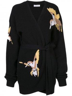 Трикотажный кардиган Jareth Altuzarra. Цвет: черный