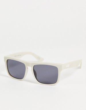 Бежевые квадратные солнцезащитные очки -Белый Vans