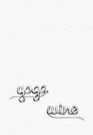 Каффы Wanna?Be! Yoga / wine. Цвет: серебряный