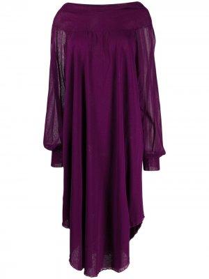 Трикотажное платье 2000-х годов Jean Paul Gaultier Pre-Owned. Цвет: фиолетовый