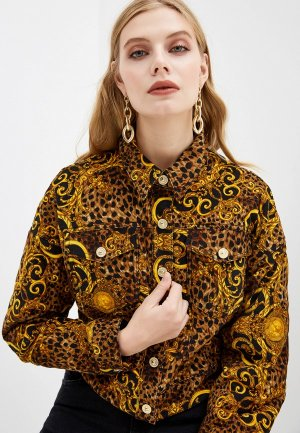 Куртка утепленная Versace Jeans Couture. Цвет: коричневый