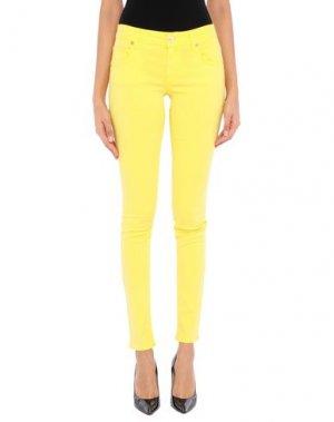 Повседневные брюки DENNY ROSE. Цвет: желтый