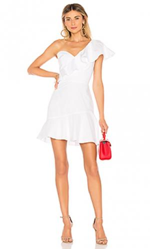 Платье vanderbilt Amanda Uprichard. Цвет: белый