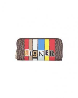 Бумажник AIGNER. Цвет: темно-коричневый
