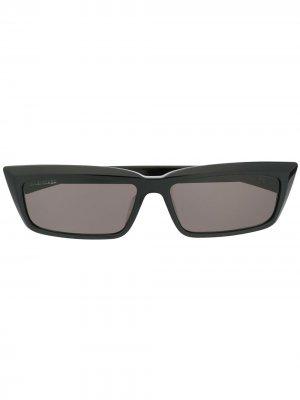 Солнцезащитные очки в прямоугольной оправе Balenciaga Eyewear. Цвет: черный