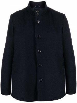 Однобортный пиджак с высоким воротником Aspesi. Цвет: синий