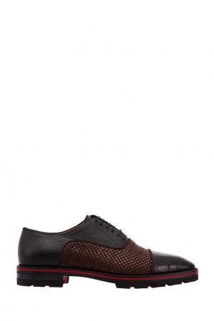 Кожаные туфли Hubertus Christian Louboutin. Цвет: черный