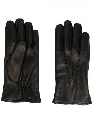 Перчатки со вставками Orciani. Цвет: черный