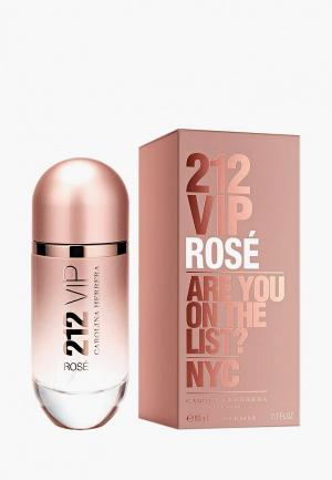Парфюмерная вода Carolina Herrera 212 Vip Rose, 80 мл. Цвет: розовый